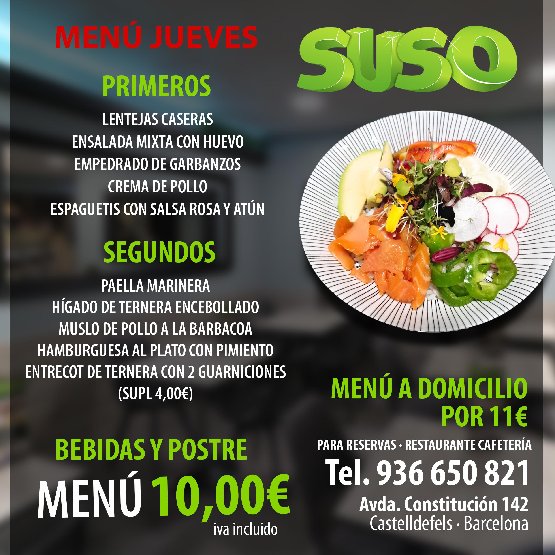 Menú Diario – Restaurante Suso
